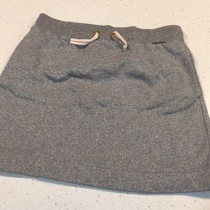 Crewcuts French terry silver skirt size 14 j Crew